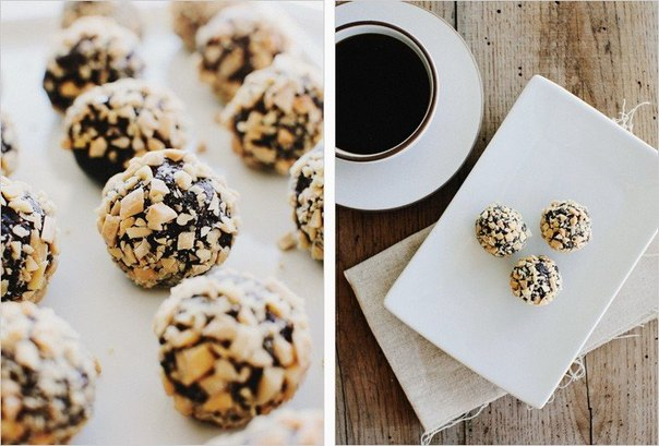 Трюфельные конфеты финик и миндаль