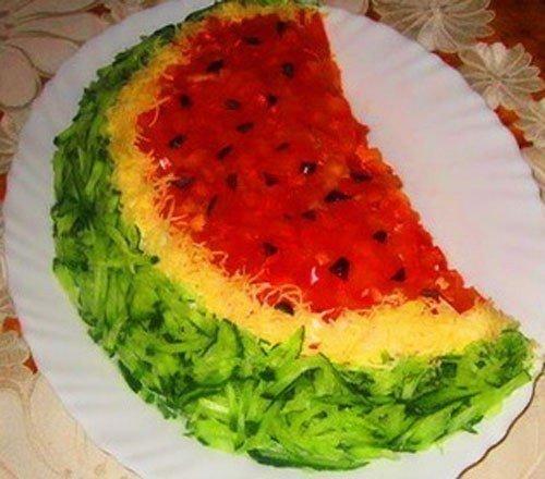 Самые красивые салаты и рецепты