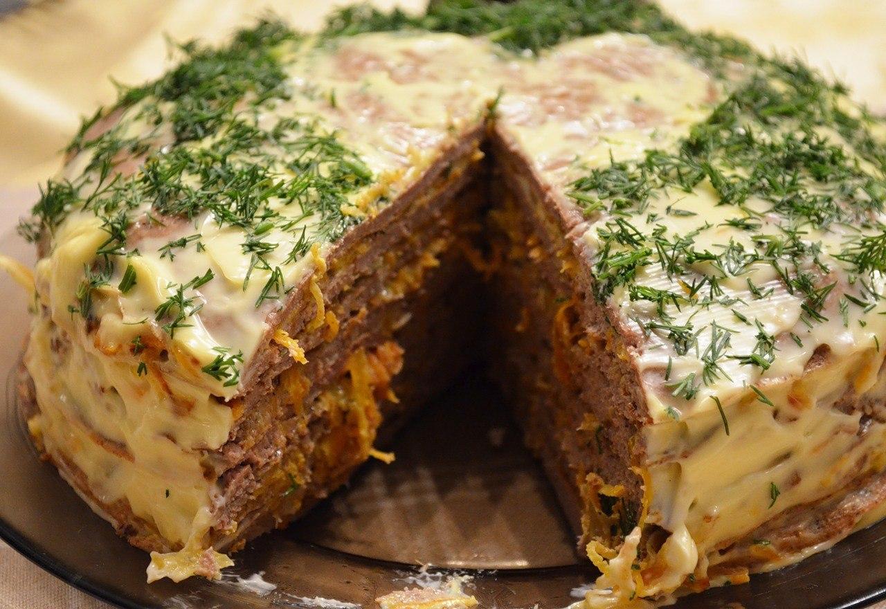 Очень вкусный печеночный торт рецепт с пошагово в домашних условиях